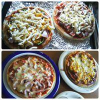 バタバタした休日のランチはピザ
