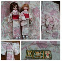 私の十日町紬の残り布で、チビッ子達にも着物をこさえました。