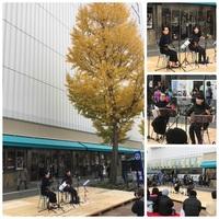 「姫路にぎわいストリートNippon」で三線演奏しました(^^)