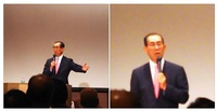 松本剛明さんの国政報告会に参加しました。