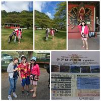ハワイ旅行(4月8日~15日)13日 クアロア牧場ツアー・ジャングル探検&クアロア伝説ツアー(山)