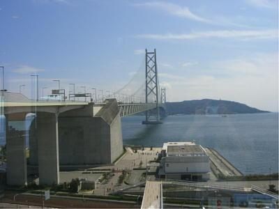 明石海峡大橋を眺めながら☆海彩園