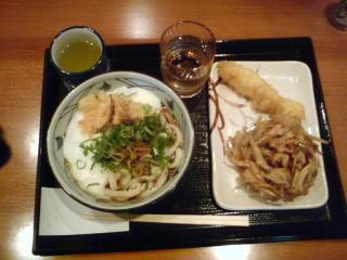 丸亀製麺☆とろ玉うどん(温)