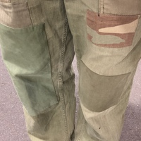 Patchwork military pants