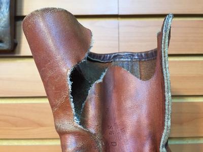 ベロ裂け補修-ジグザグ縫い