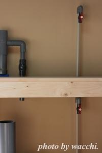 【DIY】水槽台に配管中・・