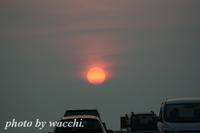 幽玄な夕陽