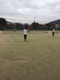 今日のテニス練習