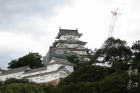 姫路城☆いよいよ本格的素屋根工事が始まった