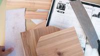 木工教室にて