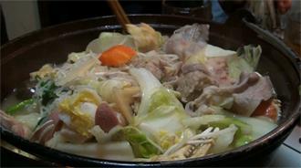 大亀山一番人気の塩ちゃんこ