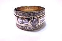 立て爪ダイヤモンドリングと一文字リングをジュエリーリフォーム