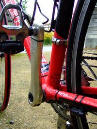 自転車の中に雨水がタマってました