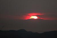 宝台山で初日の出