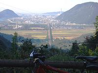 高取峠で自転車トレーニング