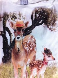 MANGOの鹿Tシャツ
