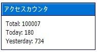 祝・100,000hits