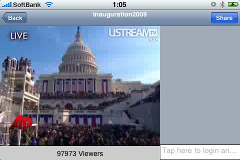 iPhoneでオバマ大統領就任式!