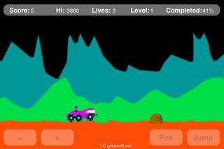 ムーンパトロール似のiPhoneゲームが無料