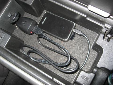 iPhone用ワンセグを車載してみた。