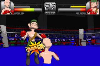 iPhoneで3Dボクシングゲー