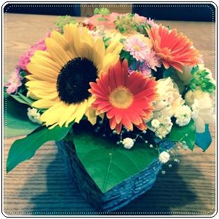 HKハウス住吉Ⅱの家着工式のお花