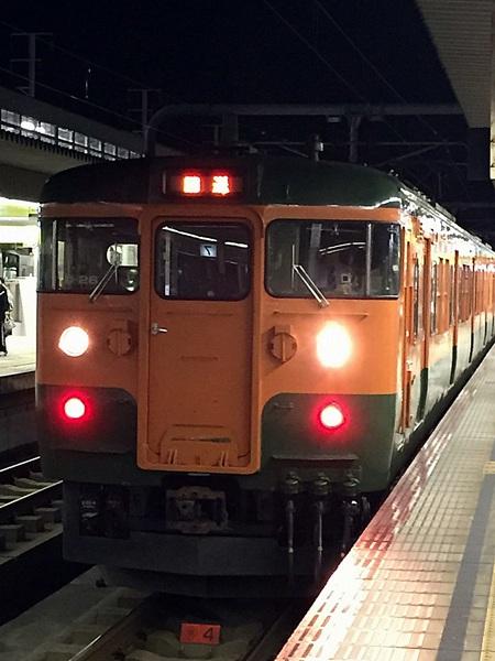115系湘南色(山陽本線:岡山駅~姫路駅)