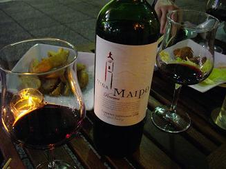 お外でワイン♪気分はヨーロッパ♪