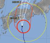 台風が姫路に向かってくる