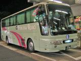 夜間高速バス・プリンセスロード、三田に停車