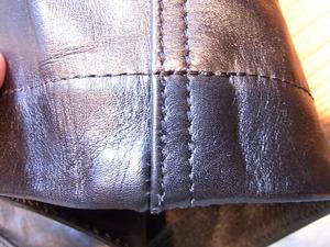 革の短パン裾上げ
