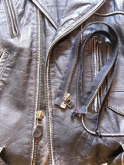 ライダース革ジャケットのファスナー交換