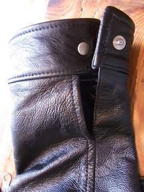 革ジャンの袖丈カット
