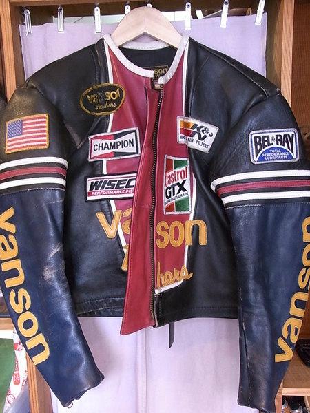 VANSONライダースジャケット、袖丈カット(ファスナー付)