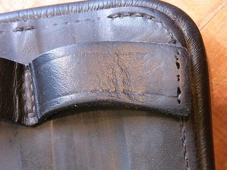 お馬さんの腹帯!?ほころび修理