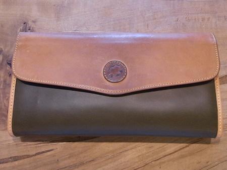 ハンティングワールド長財布のバチュー・クロスを革に交換 その2