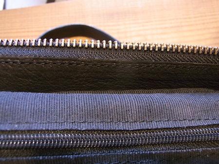 編み込みバックの革パーツを全交換