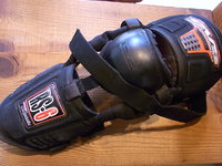 バイクの膝プロテクター?の修理