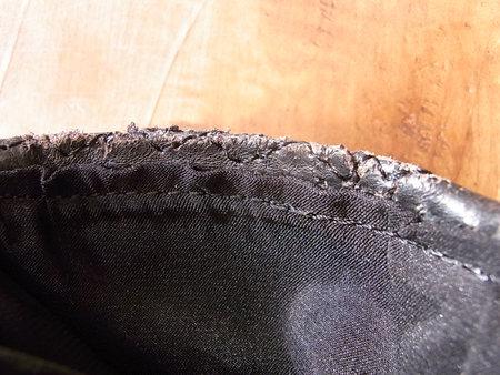 BROOKS レザージャケットの裏地交換と破れ部補修のつづき