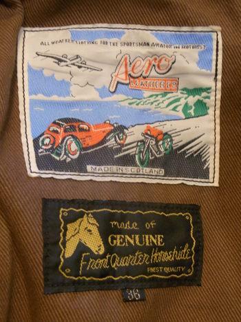 Aero 革ジャンの袖先カット