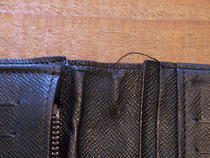 ルイヴィトンダミエ、長財布のほころび修理