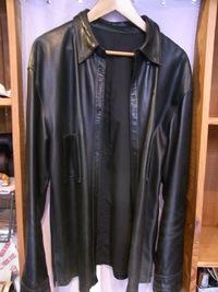 シャツタイプジャケットの袖裏を一部交換