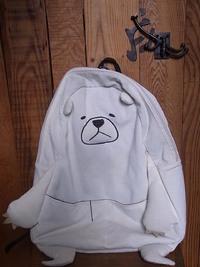 白熊リュックを修理しました