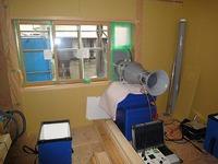 大窪Ⅲの家で気密測定で再検査