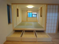 大窪Ⅲの家、大容量の床下収納