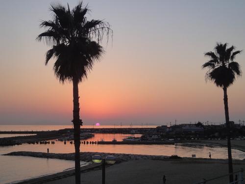 江井島海岸 きれいな夕日
