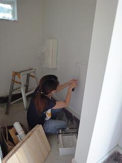 福里の家 お施主様が塗装