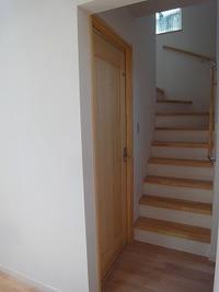 階段スキップフロアーに趣味室
