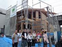 谷八木Ⅱの家、昨日突然の雨でしたが上棟