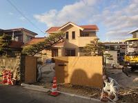 西島の家、外構工事中